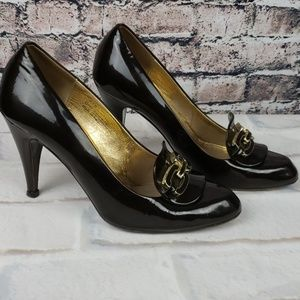 "Coach Shoes - Coach Patent Leather 3"" Italian Pumps 9.5"